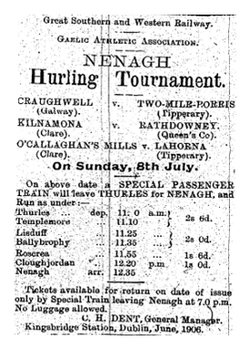 Train Ad for Nenagh Tournament