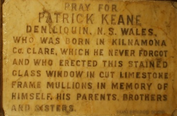 Marble Slab Commemorating Patrick Keane